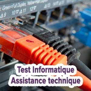 Test Informatique - Assistance technique
